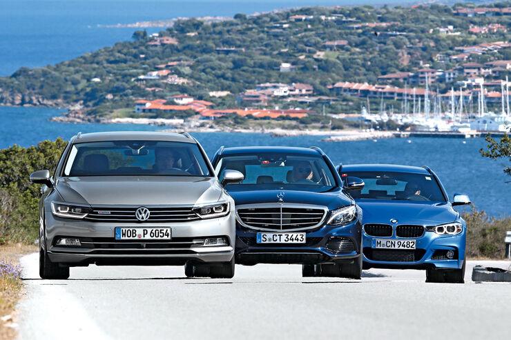 BMW Dreier Touring, Mercedes C-Klasse T-Modell, VW Passat Variant