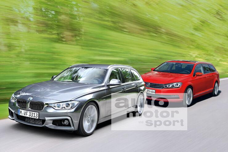BMW Dreier, VW Passat