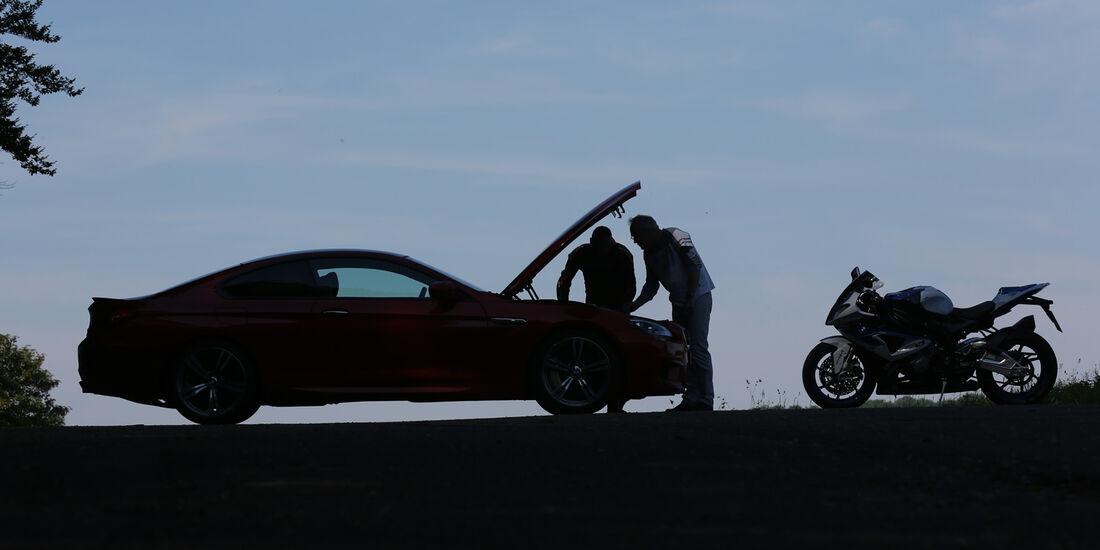BMW HP4, BMW M6, Seitenansicht