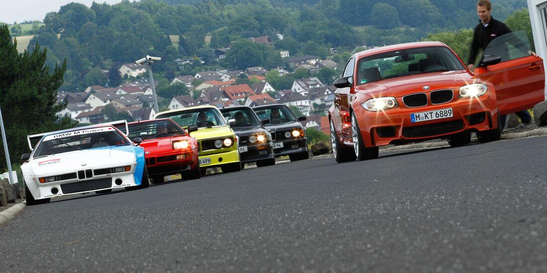 BMW M, alle Fahrzeuge, Frontansicht