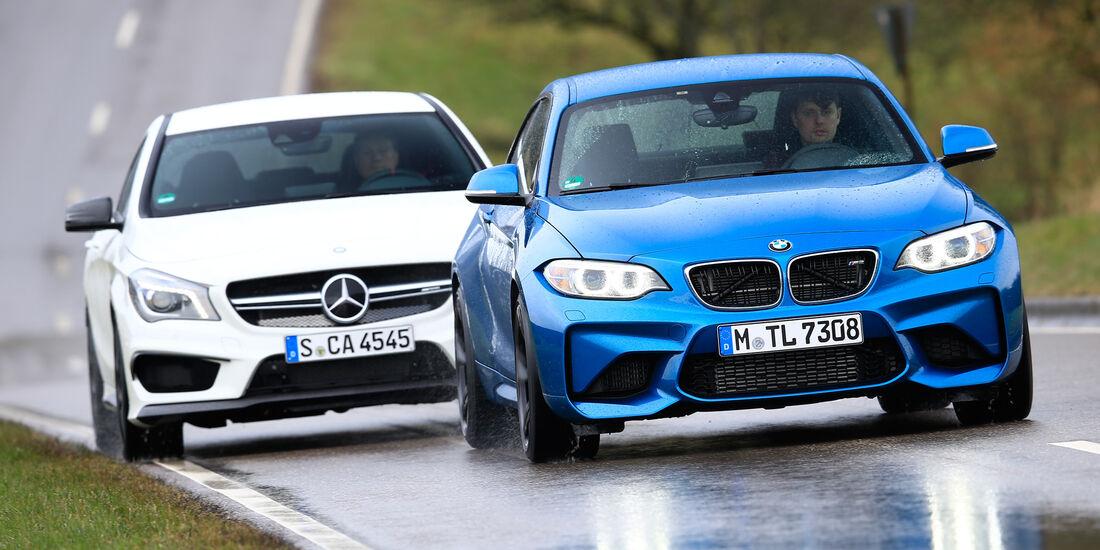 BMW M2, Mercedes-AMG CLA 45, Frontansicht