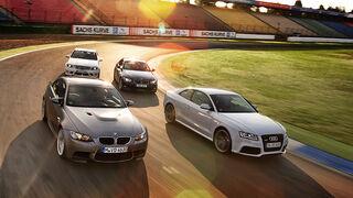 BMW M3, BMW Alpina B3, Audi RS5, Mercedes C 63 AMG