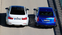 BMW M3 Competition, Cadillac ATS-V, Heckansicht
