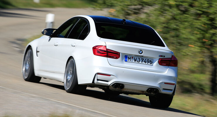 BMW M3 Competition, Heckansicht