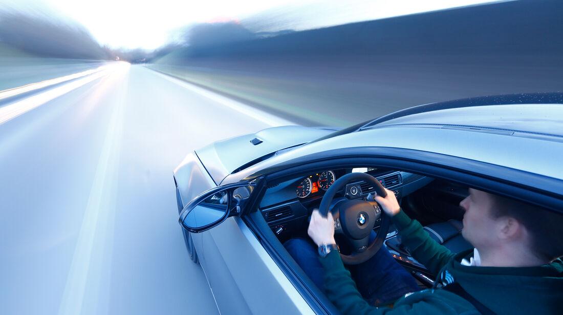 BMW M3 Coupé  E92, Cockpit, Fahrt