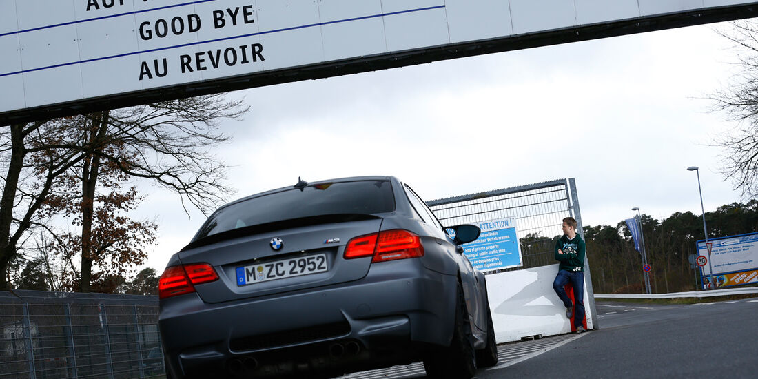 BMW M3 Coupé  E92, Heckansicht, Nürburgring