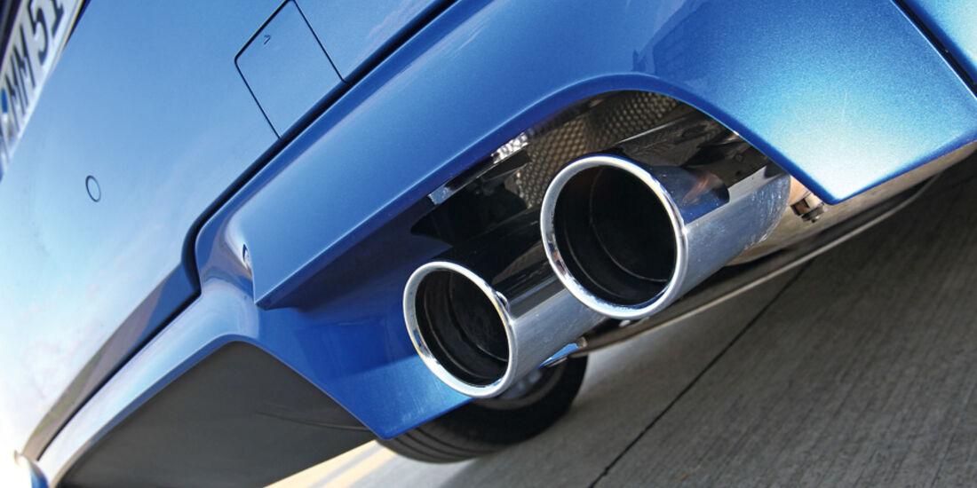 BMW M5, Auspuff, Endrohre