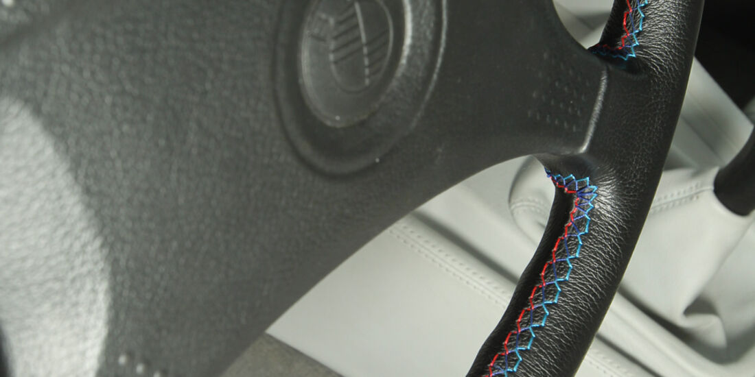 BMW M5, Lenkrad, Detail