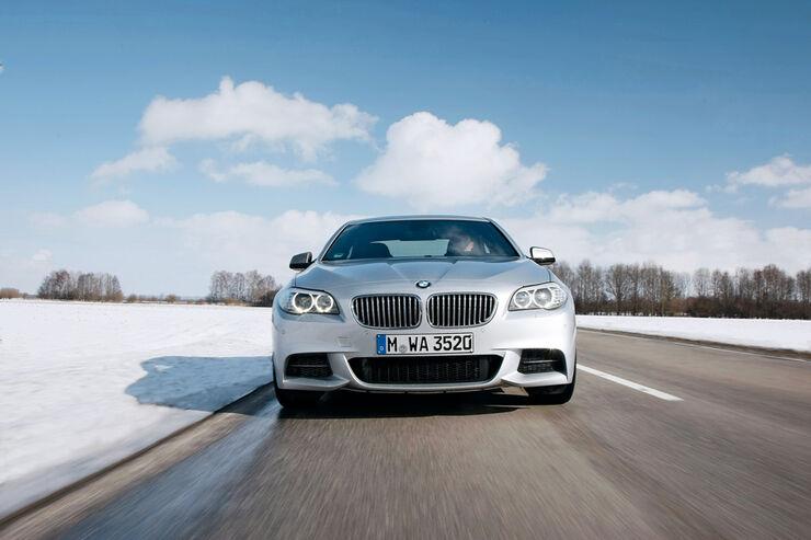 BMW M550d x-Drive, Frontansicht, Kühlergrill