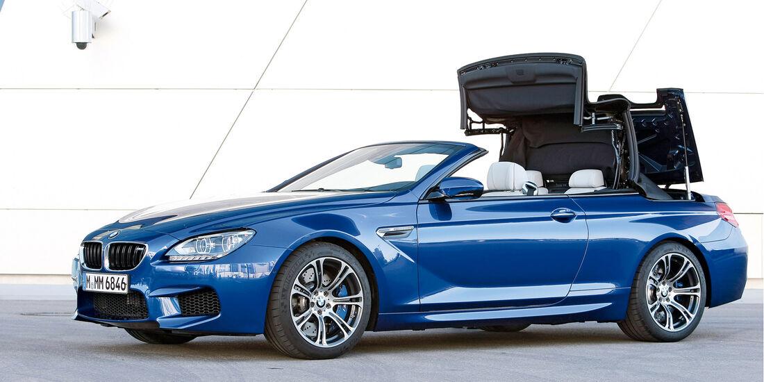 BMW M6 Cabrio, Seitenansicht, Verdeck schließt