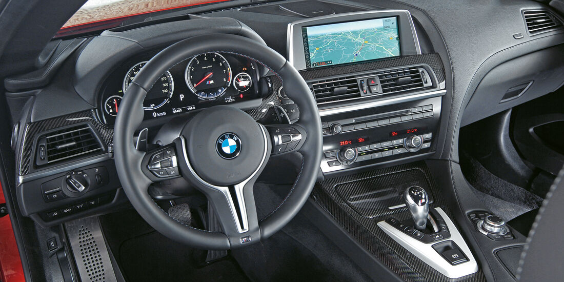 BMW M6 Coupé, Cockpit, Lenkrad