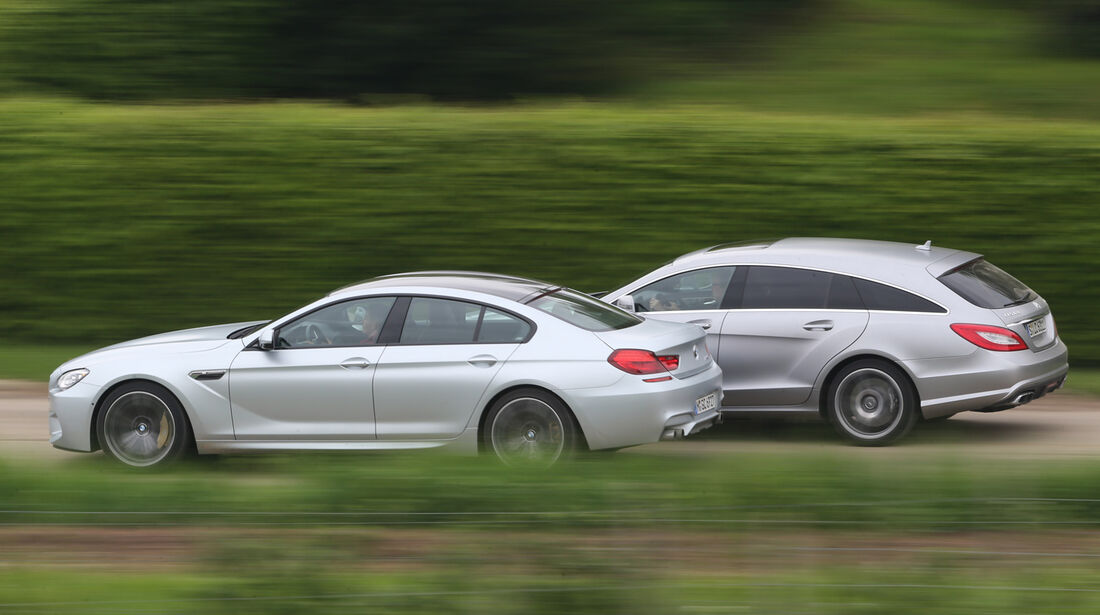 BMW M6 Gran Coupé, Mercedes CLS 63 AMG Shooting Brake, Seitenansicht