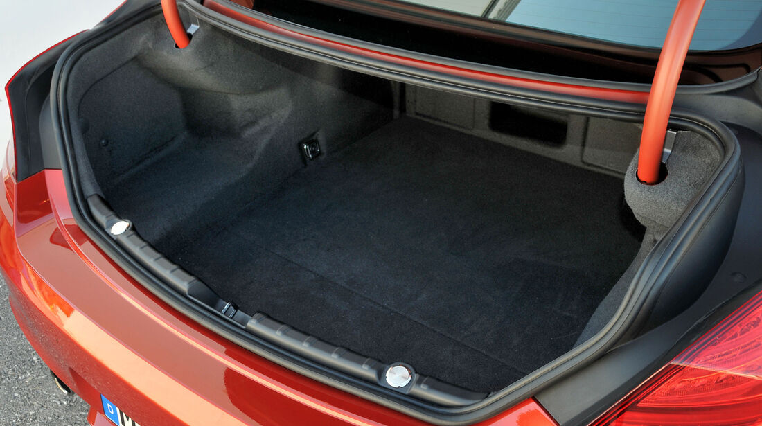 BMW M6, Kofferraum
