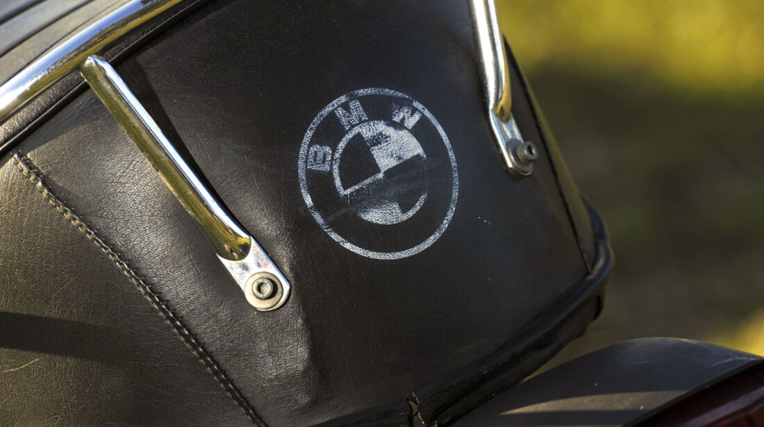 BMW R 100/7, Sattel, Detail