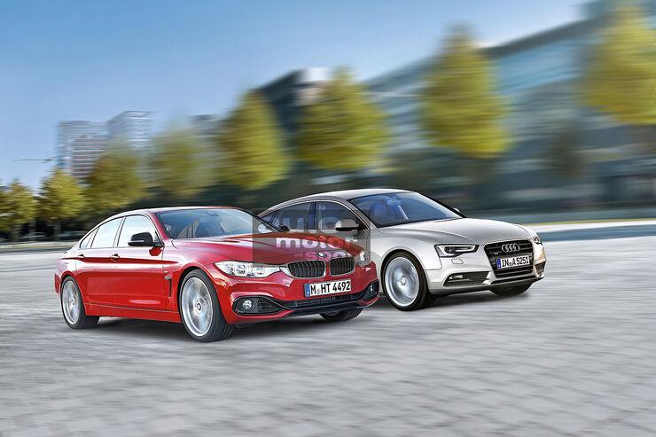 BMW Vierer Gran Coupé, Audi A5 Sportback, Seitenansicht