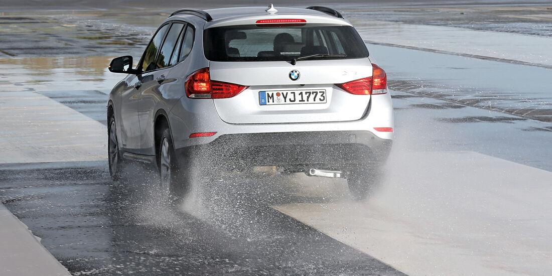 BMW X1, Bremstest, Heckansicht
