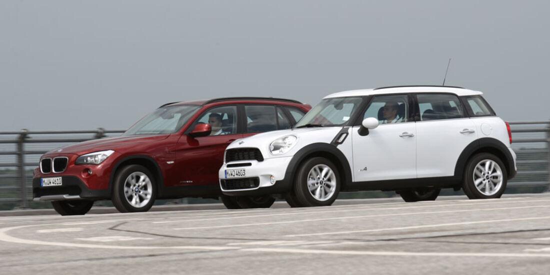 Mini Countryman Und Bmw X1 Offroad Duell Unter Bmw Brüdern Auto