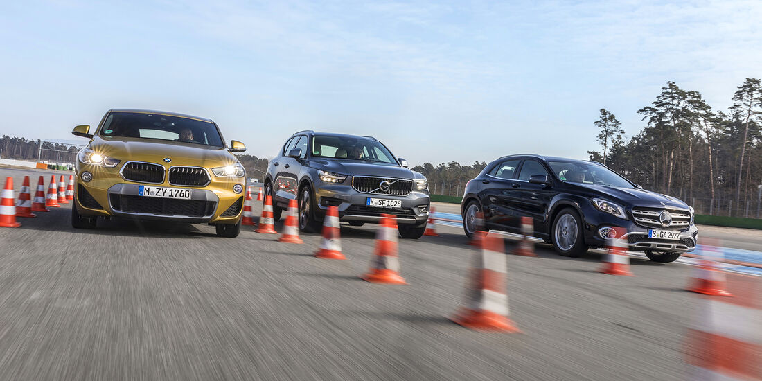 aafc2be8e2 BMW X2 gegen Mercedes GLA und Volvo XC40 im Test (2018) - auto motor ...