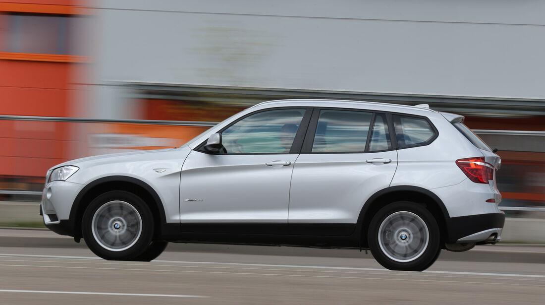 BMW X3 s-Drive 18d, Seitenansicht