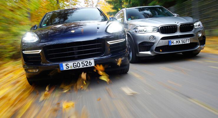 BMW X5 M, Porsche Cayenne Turbo S, Frontansicht