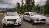 BMW X5, Porsche Cayenne, Frontansicht