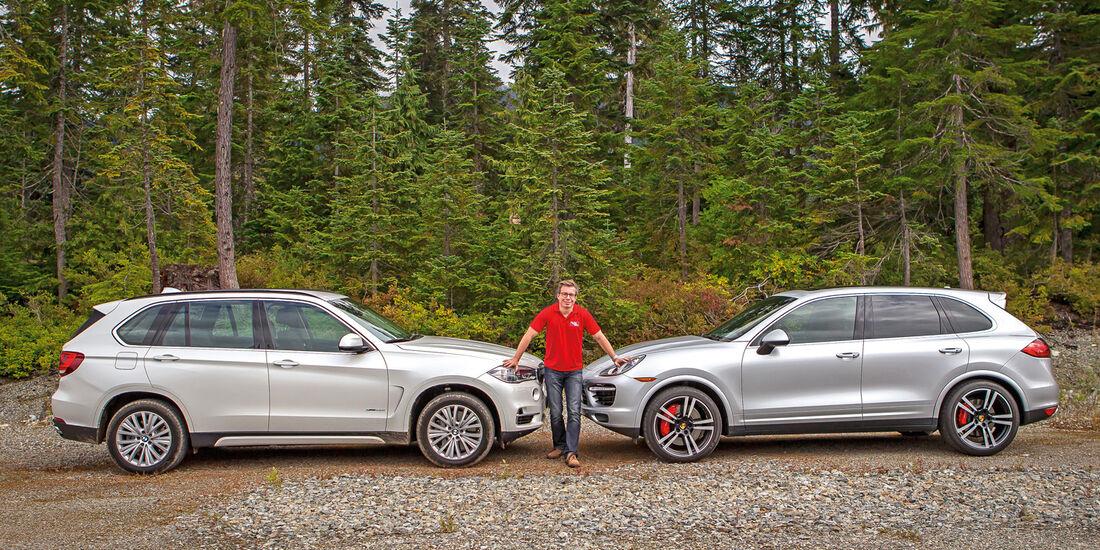 BMW X5, Porsche Cayenne, Seitenansicht