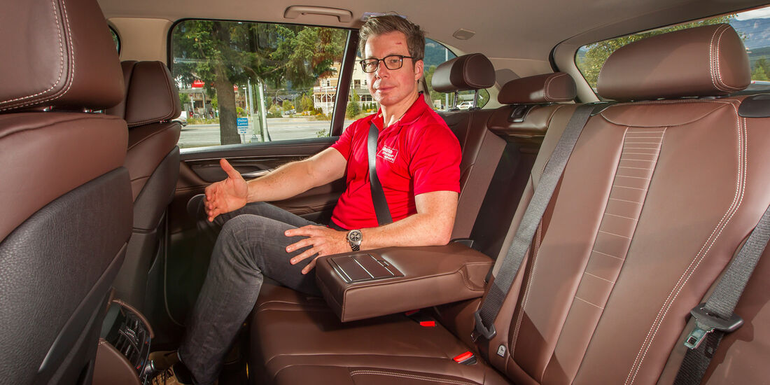BMW X5, Rücksitz, Beinfreiheit