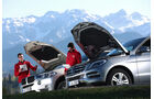 BMW X5 xDrive 25d, Mercedes ML 250 Bluetec 4Matic, Motorhaube