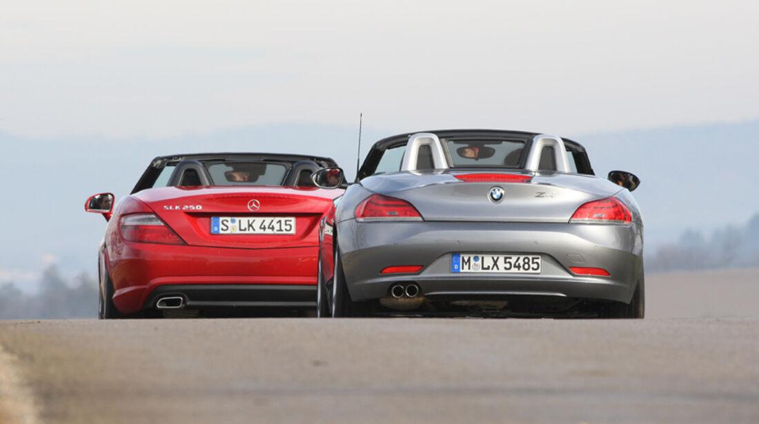 BMW Z4 28i, Mercedes SLK 250