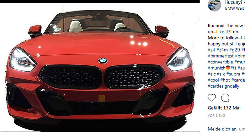 BMW Z4 Instagram