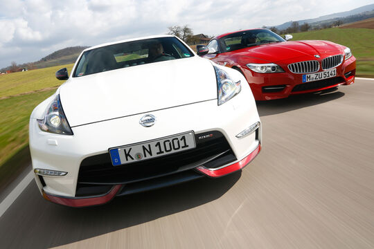 BMW Z4 sDRIVE 35is, Nissan 370Z Nismo, Frontansicht