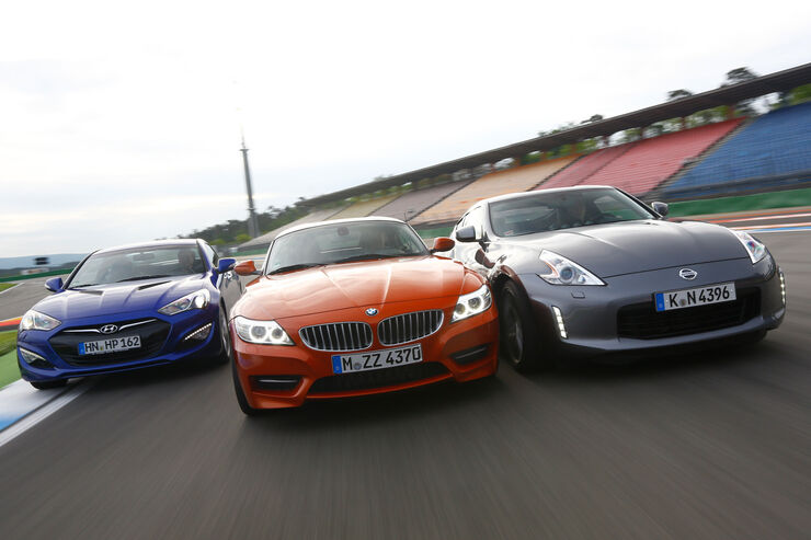 BMW Z4 sDrive 35is, Hyundai Genesis Coupé, Nissan 370Z