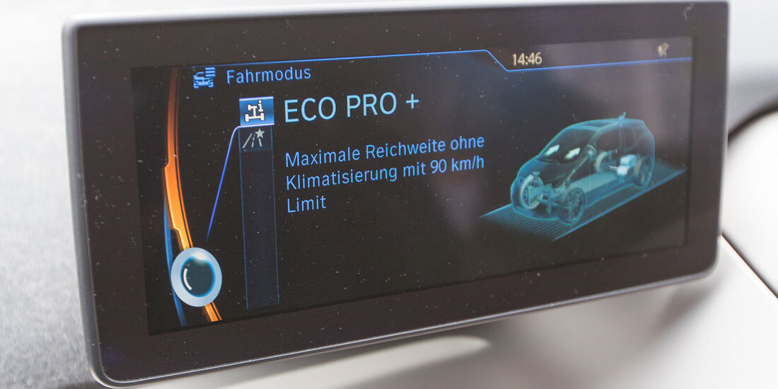 BMW i3, Monitor, Eco Pro