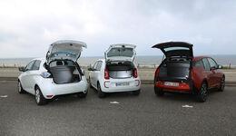 BMW i3, Renault Zoe, VW E-Up, Heckklappe