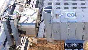 Batterie-Crashtest Lithium-Ionen-Batterie