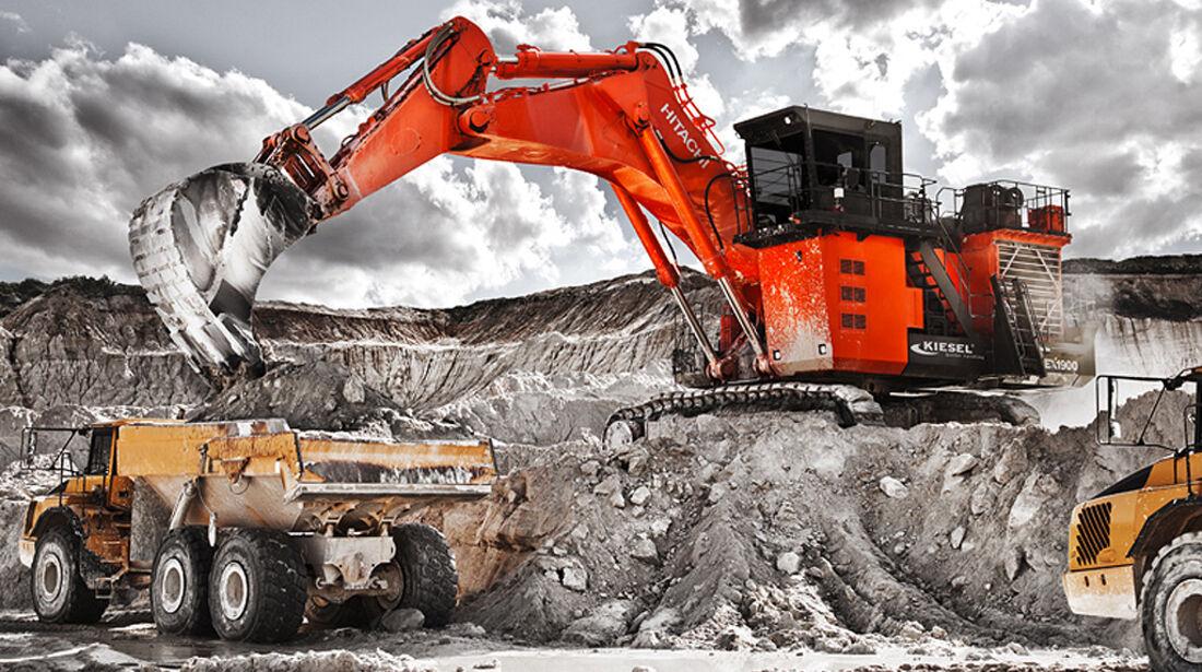 Baumaschinen-Kalender, Heavy Equipment-Kalender 2011, Hitachi EX1900-6 Miningbagger