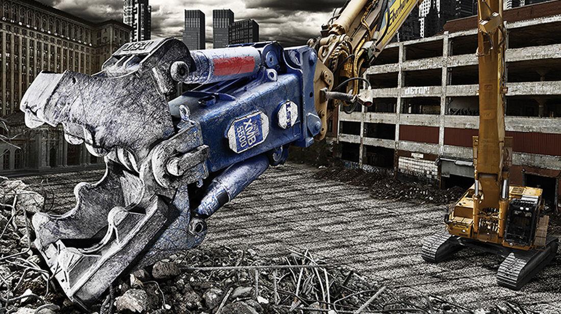 Baumaschinen-Kalender, Heavy Equipment-Kalender 2011, LST XMB 5500 Demolator Abbruchschere