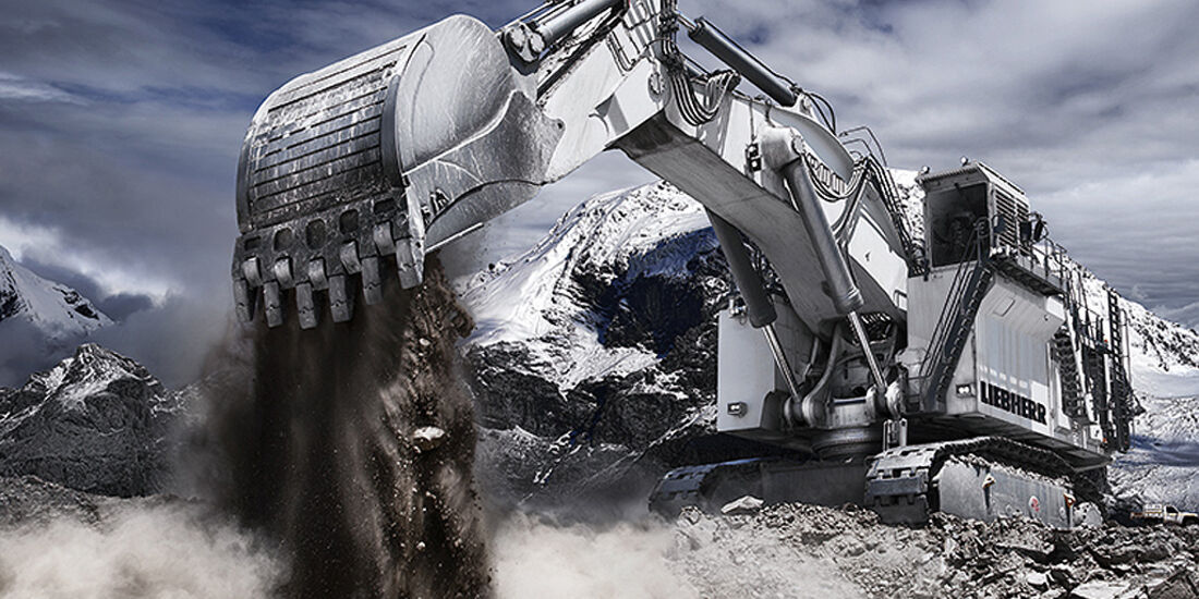 Baumaschinen-Kalender, Heavy Equipment-Kalender 2011, Liebherr R 9800 Miningbagger
