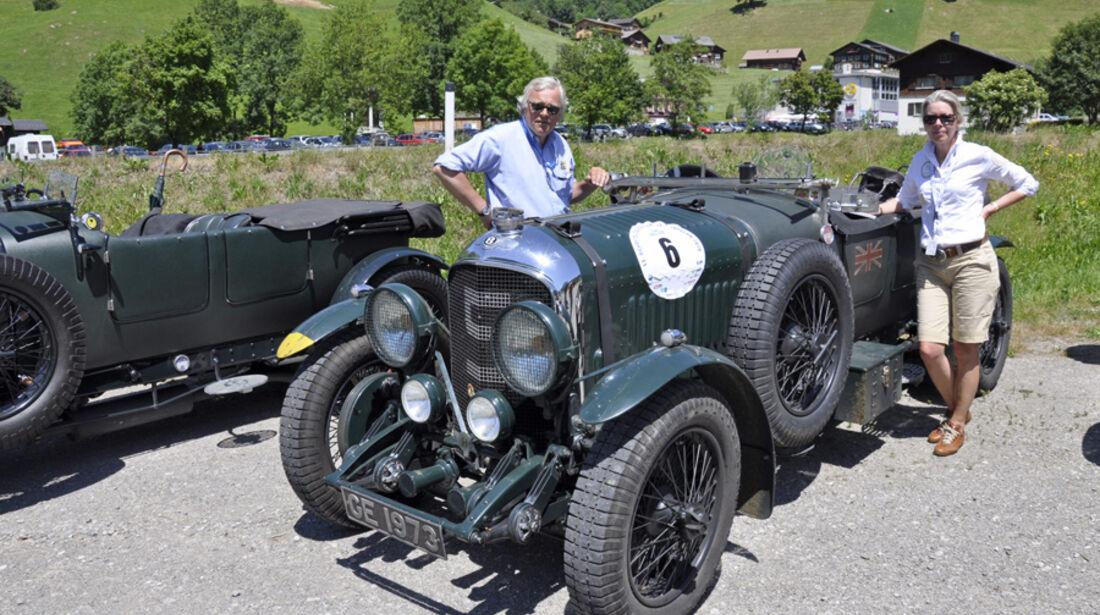 Bentley 4 1/2 Litre Open Tourer bei der Silvretta Classic 2010 - Hasso G. und Ulla Nauck