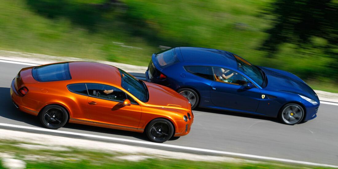 Bentley Continental Supersports, Ferrari FF, Seitenansicht