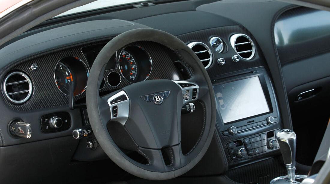 Bentley Continental Supersports, Lenkrad, Cockpit