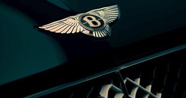 Bentley Jubiläumsmodell Genf 2019 Teaser Logo