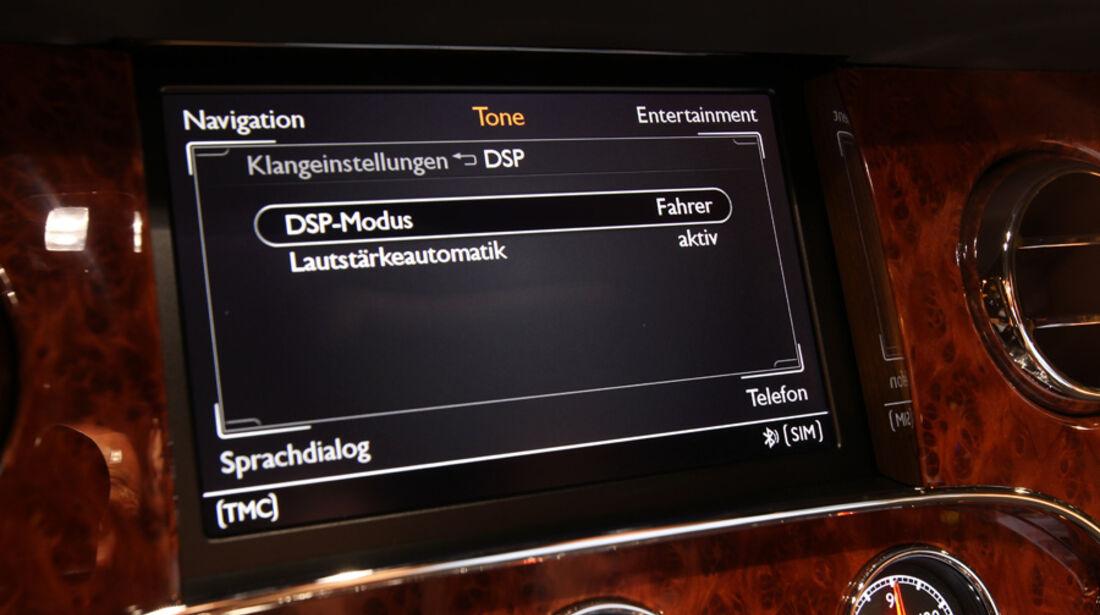 Bentley Mulsanne, Detail, Navi, Bildschirm