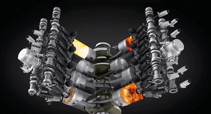 Bentley V8-Motor, Zylinderabschaltung