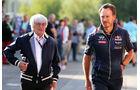 Bernie Ecclestone & Christian Horner - Formel 1 - GP Belgien - Spa-Francorchamps - 22. August 2015