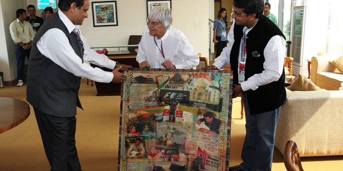 Bernie Ecclestone  - Formel 1 - GP Indien - 28. Oktober 2012