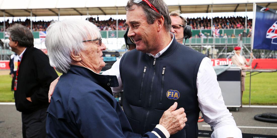 Bernie Ecclestone - Nigel Mansell - GP England 2016 - Silverstone - Rennen