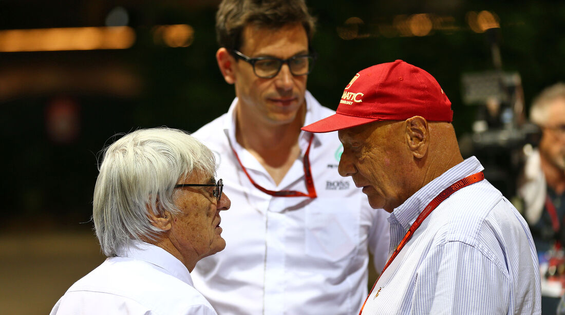 Bernie Ecclestone, Toto Wolff & Niki Lauda - Formel 1 - GP Singapur - 17. September 2016