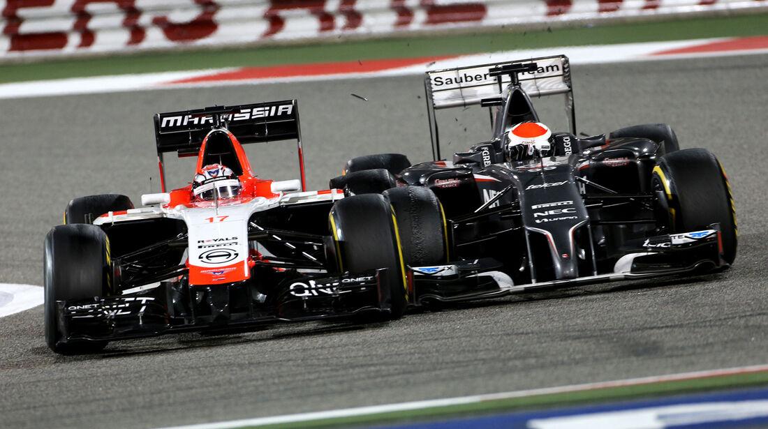 Bianchi vs. Sutil - Formel 1 - GP Bahrain 2014