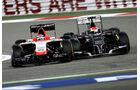 Bianchi vs. Sutil - GP Bahrain - Crashs 2014